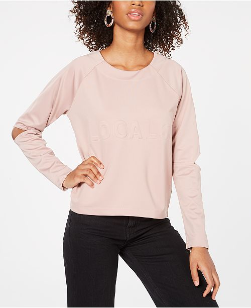 Material Girl Juniors' Cutout Sweatshirt, Created for Macy's