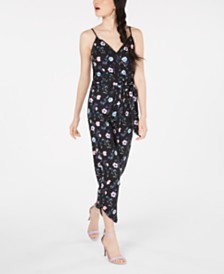 XOXO Juniors' Surplice-Neck Jumpsuit
