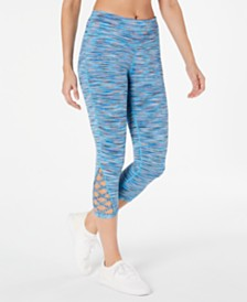 Ideology Space-Dyed Crisscross Leggings, Created for Macy's