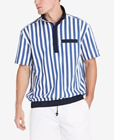 Tommy Hilfiger Men's Cole Regular-Fit Colorblocked Stripe Popover Shirt