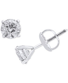 EFFY® Diamond Stud Earrings (1 ct. t.w.) in 14k White Gold