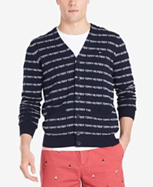Tommy Hilfiger Men's Eponymous Regular-Fit Logo Stripe Cardigan