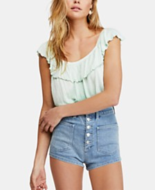 Free People Cora Lee Off-The-Shoulder Ombré Flounce Top