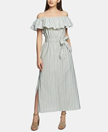 1.STATE Cotton Off-The-Shoulder Maxi Dress