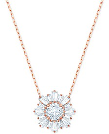 "Crystal Sunshine Pendant Necklace, 14-7/8"" + 2"" extender"