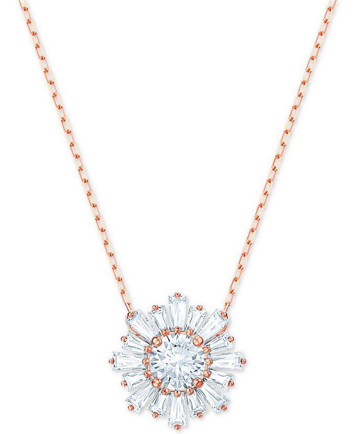 "Swarovski - Crystal Sunshine Pendant Necklace, 14-7/8"" + 2"" extender"