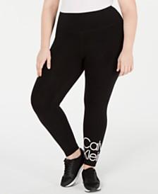 Calvin Klein Performance Plus Size Logo High-Rise Leggings