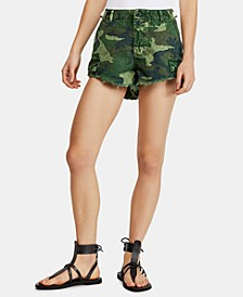 Commander Cutoff Printed Shorts