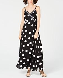 I.N.C. Dot & Stripe Maxi Dress, Created for Macy's