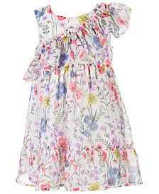 Blueberi Boulevard Baby Girls Floral-Print Chiffon Dress
