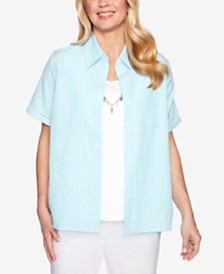 Alfred Dunner Catalina Island Layered-Look Necklace Top