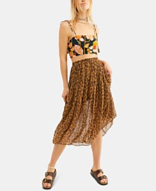 Free People Lydia Printed Skirt