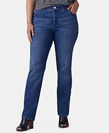 Lee Platinum Plus Size Straight-Leg Jeans