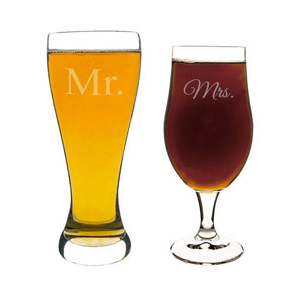 Cathy's Concepts Mr. & Mrs. Pilsner Set