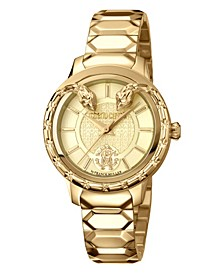 By Franck Muller Women's Swiss Quartz Gold Stainless Steel Bracelet Watch, 34mm