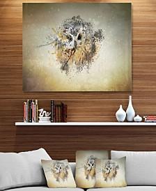"Designart 'Large Gracing Owl' Animal Metal Wall Art - 40"" X 30"""