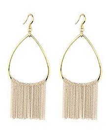 Open Hoop Chain Earring