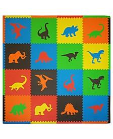 Tadpoles 16 Piece Foam Play Mat Set, Dinosaurs