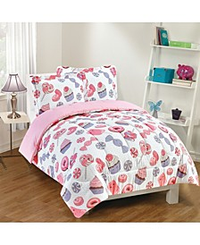 Sweet Treats 3-Piece Comforter Set, Full