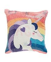 Dream Factory Unicorn Sequin Pillow 488b4f5b39