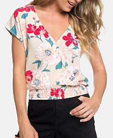 Roxy Juniors' Cropped Wrap Top
