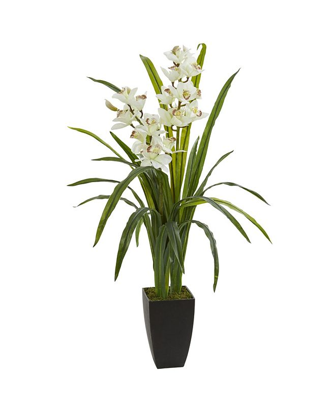 "Nearly Natural 39"" Cymbidium Orchid Artificial Plant"