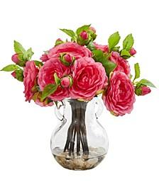 Camellia Artificial Arrangement in Vase