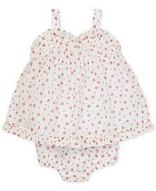 Polo Ralph Lauren Baby Girls Floral Ruffled Cotton Short Set