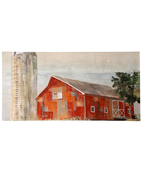 StyleCraft Barnside Silo Stretched Canvas