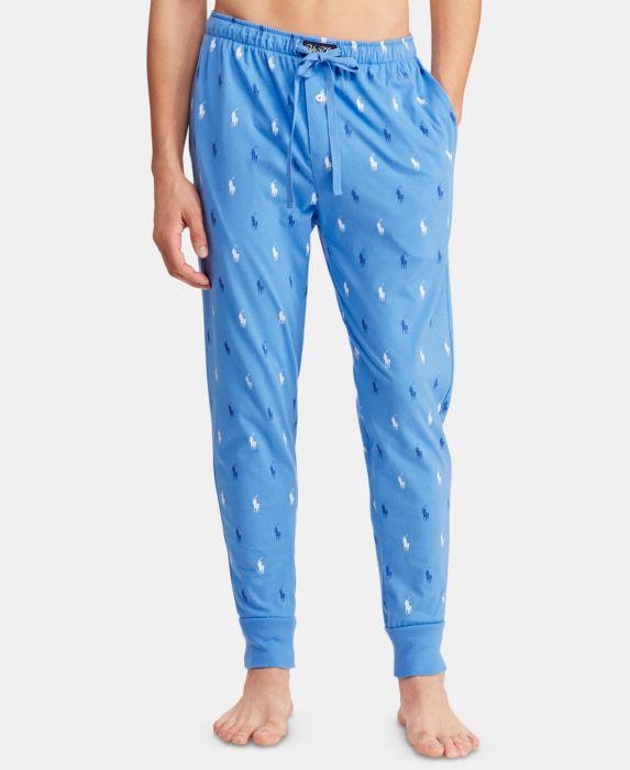 Polo Ralph Lauren Mens Cotton Jogger Pants, Blue, Size: XL