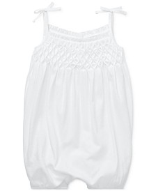 Baby Girls Smocked Cotton Shortall