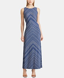 American Living Chevron-Stripe Maxidress