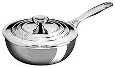 Le Creuset Stainless Steel 2-Qt. Saucier Pan with Lid