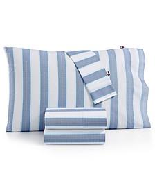 Preppy Stripe Queen Sheet Set