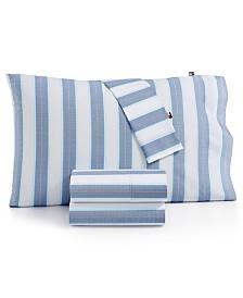 Tommy Hilfiger Preppy Stripe Queen Sheet Set