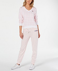 Gingham Top and Jogger Pants