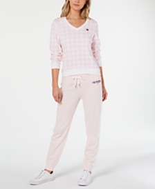 Tommy Hilfiger Sport Gingham Top and Jogger Pants