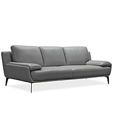 "Surat 97"" Leather Sofa, Created for Macy's"