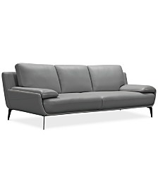 """Surat 97"""" Leather Sofa, Created for Macy's"""