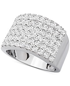 Diamond Pavé Cluster Statement Ring (2 ct. t.w.) in 14k White Gold