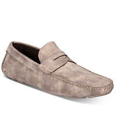 Massimo Emporio Men's Oxigen Suede Penny Loafers