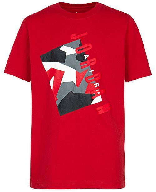 Jordan Big Boys Jordan-Print Cotton T-Shirt