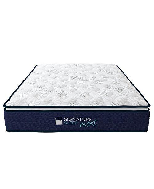 Signature Sleep Reset 12'' Nano bionic Pillow Top Hybrid Mattress, Queen