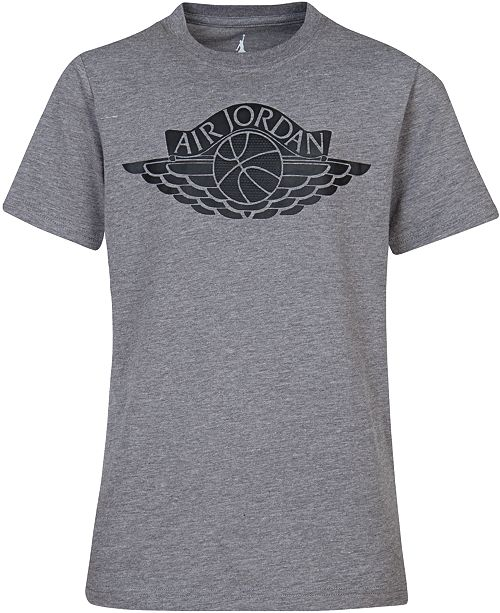 purchase cheap f9a45 a97f1 ... Jordan Fly Wings Graphic-Print Cotton T-Shirt, Big Boys ...