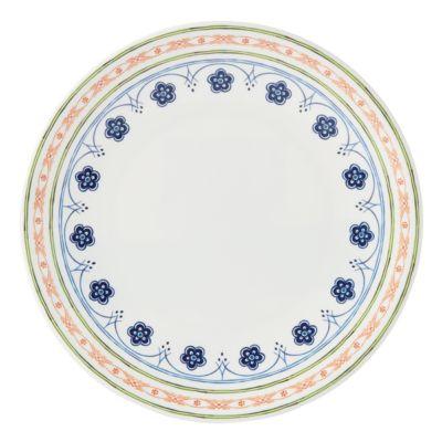 Northern Blossom Orange Border Melamine Dinner Plate