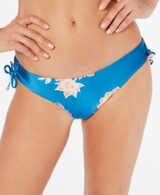 Juniors' Printed Cheeky Bikini Bottoms