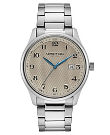 Men's Stainless Steel Bracelet with Classic Date Dial, 42MM