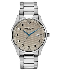 Kenneth Cole New York Men's Stainless Steel Bracelet with Classic Date Dial, 42MM