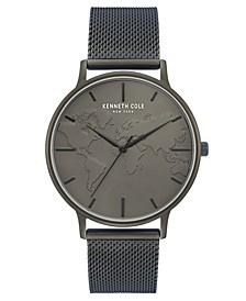 """Men's Mesh Bracelet, Dial and """"World"""" Etch On Dial, 42MM"""