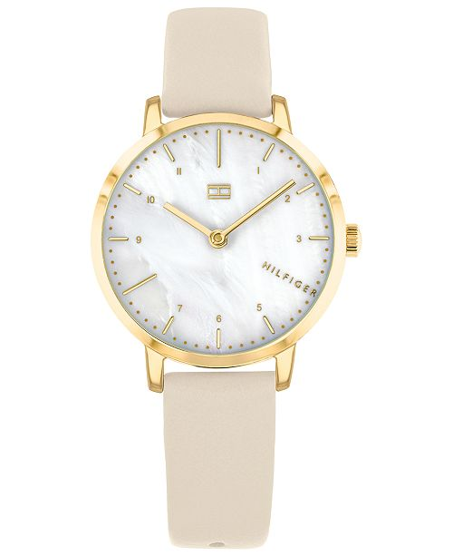 Tommy Hilfiger Women's Blush Leather Strap Watch 30mm, Created for Macy's